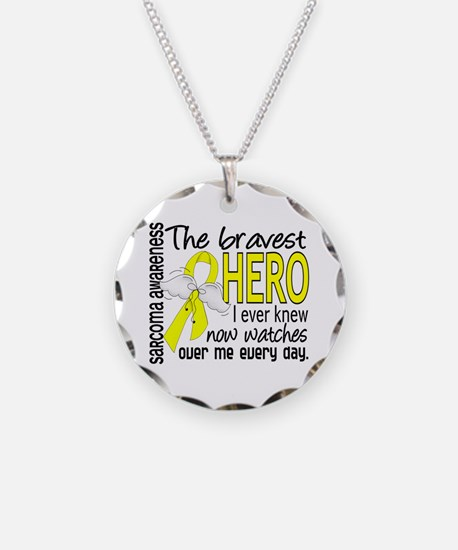 Bravest Hero I Knew Sarcoma Gifts Necklace