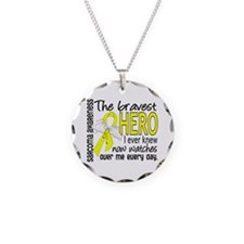 Bravest Hero I Knew Sarcoma Gifts Necklace Circle