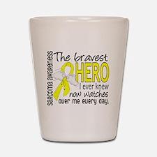 Bravest Hero I Knew Sarcoma Gifts Shot Glass