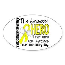 Bravest Hero I Knew Sarcoma Gifts Decal