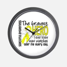 Bravest Hero I Knew Sarcoma Gifts Wall Clock