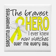 Bravest Hero I Knew Sarcoma Gifts Tile Coaster