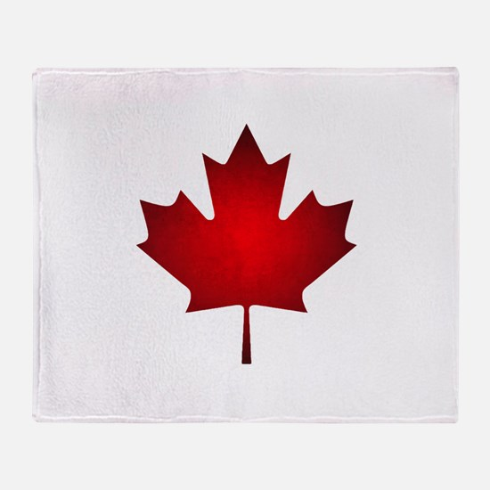 Maple Leaf Grunge Throw Blanket
