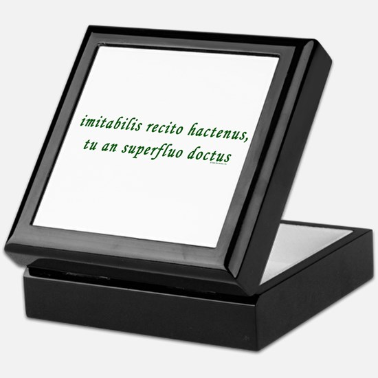 Latin Keepsake Box