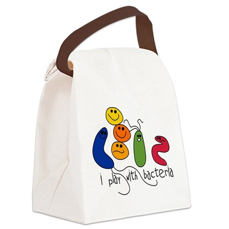 play bacteria w.png Canvas Lunch Bag