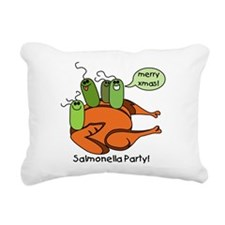 salmonellaparty.png Rectangular Canvas Pillow