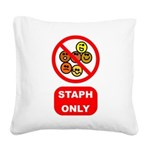 staph.png Square Canvas Pillow
