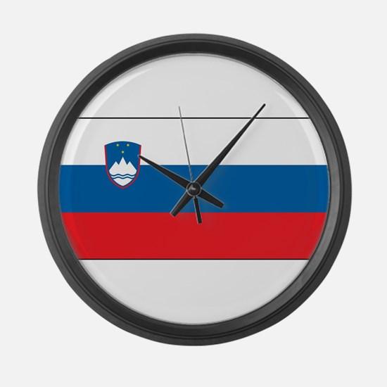Slovenia - National Flag - Current Large Wall Cloc