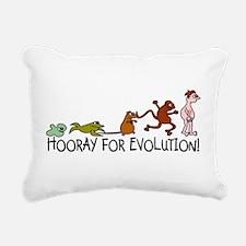 Hooray for Evolution Rectangular Canvas Pillow