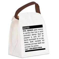 2-genius.png Canvas Lunch Bag