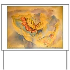 Butterfly, colorful art! Yard Sign