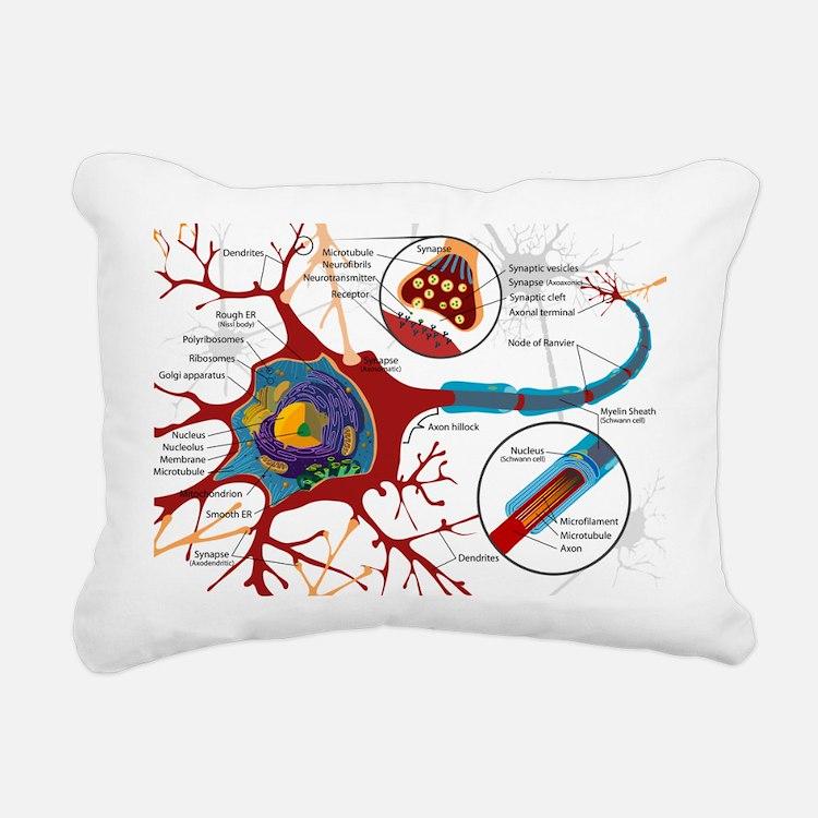 Neuron cell Rectangular Canvas Pillow