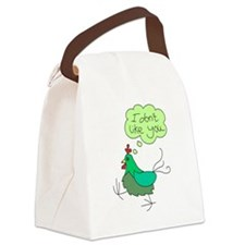 angry chick.png Canvas Lunch Bag