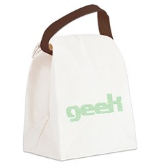 Binary Geek Canvas Lunch Bag