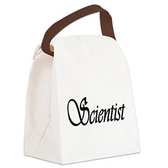 scientist text 1.png Canvas Lunch Bag