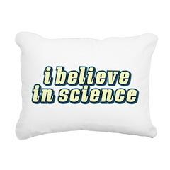 Believe in Science Rectangular Canvas Pillow