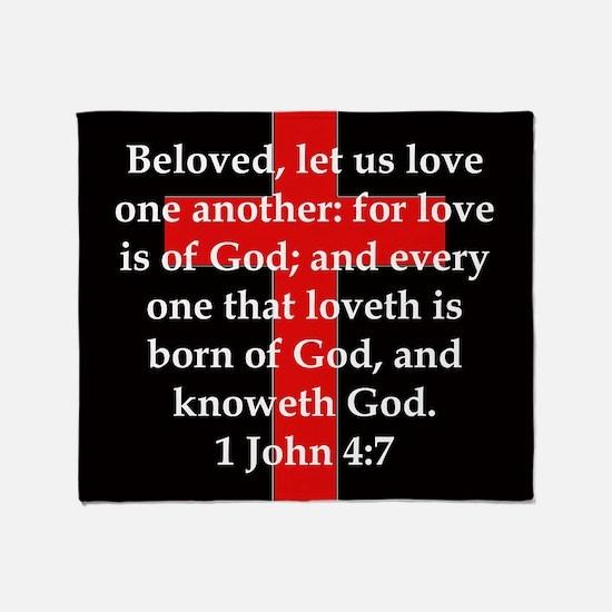 1 John 4-7 Throw Blanket