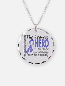 Bravest Hero I Knew Prostate Cancer Gifts Necklace