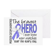 Bravest Hero I Knew Prostate Cancer Gifts Greeting