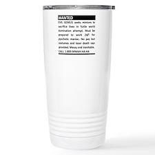 Evil Genius Personal Ad Travel Mug