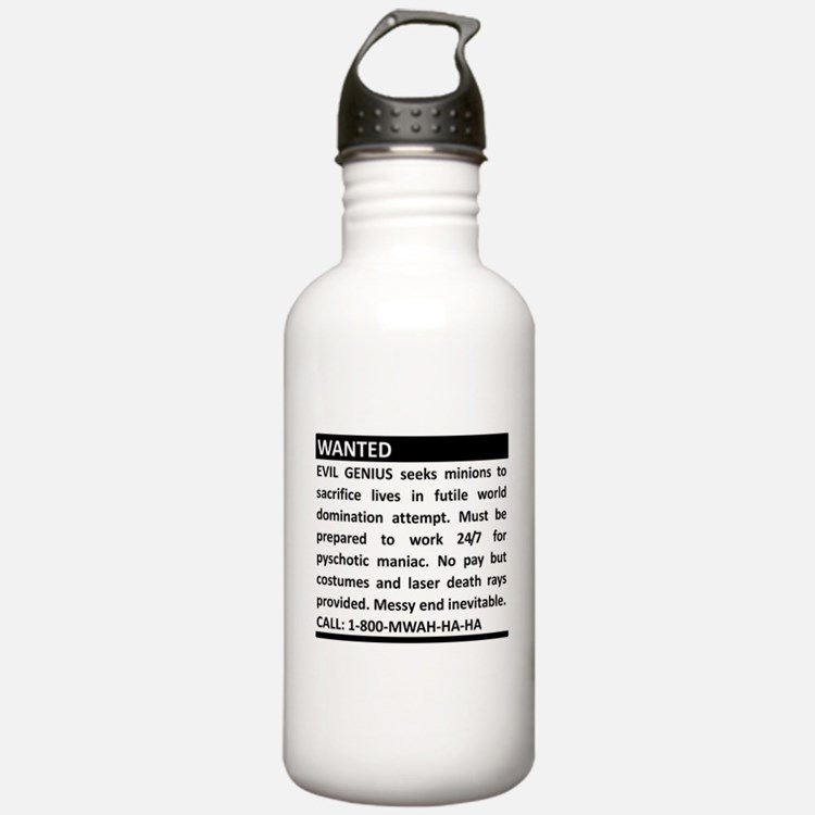 Evil Genius Personal Ad Water Bottle