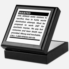 Evil Genius Personal Ad Keepsake Box