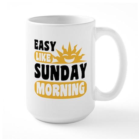 Easy Like Sunday Morning Large Mug