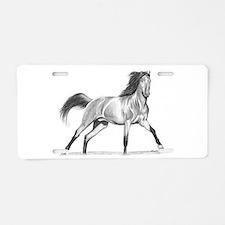 Buckskin Horse Aluminum License Plate