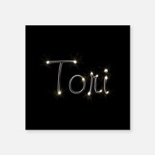 "Tori Spark Square Sticker 3"" x 3"""