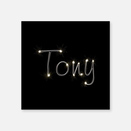 "Tony Spark Square Sticker 3"" x 3"""