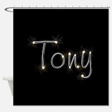 Tony Spark Shower Curtain