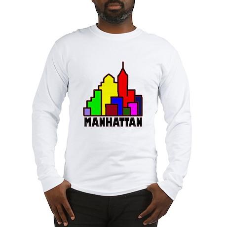 ManhattanSkyline_t-shrit Long Sleeve T-Shirt