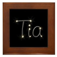 Tia Spark Framed Tile