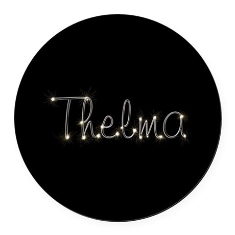 Thelma Spark Round Car Magnet