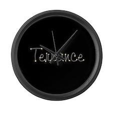 Terrance Spark Large Wall Clock