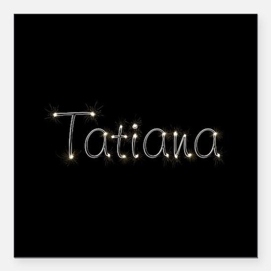 "Tatiana Spark Square Car Magnet 3"" x 3"""