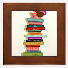 The Many Books of Life Framed Tile