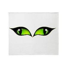 Green eyes vampire Throw Blanket