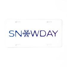 Snowday Aluminum License Plate