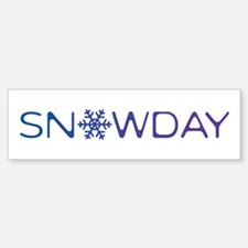 Snowday Bumper Bumper Sticker