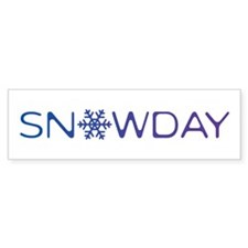 Snowday Bumper Sticker