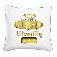 R.I.P cream filling Square Canvas Pillow