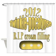 R.I.P cream filling Shower Curtain