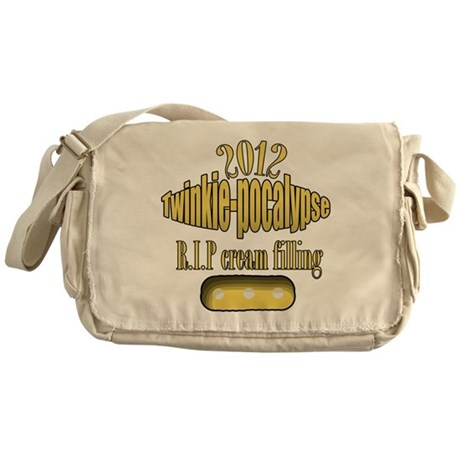 R.I.P cream filling Messenger Bag