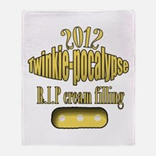 R.I.P cream filling Throw Blanket
