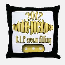 R.I.P cream filling Throw Pillow