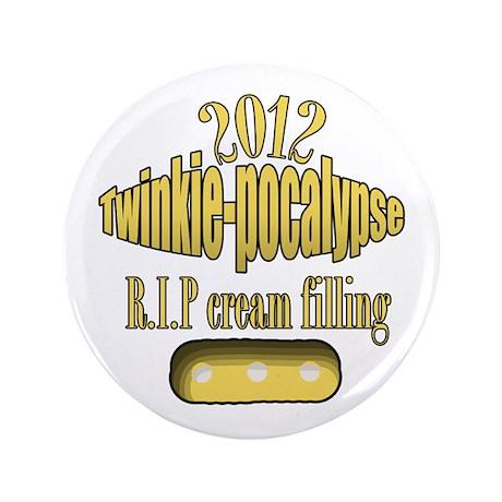 """R.I.P cream filling 3.5"""" Button"""
