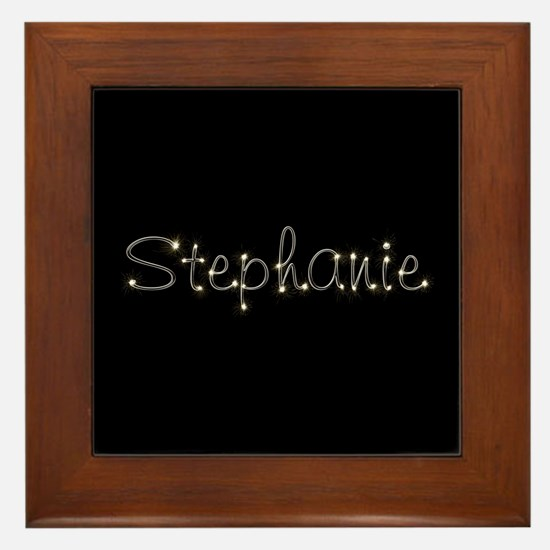Stephanie Spark Framed Tile