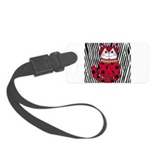 Ladybug Zebra Cat Luggage Tag