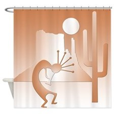 Kokopelli Desert Abstract #9 Shower Curtain